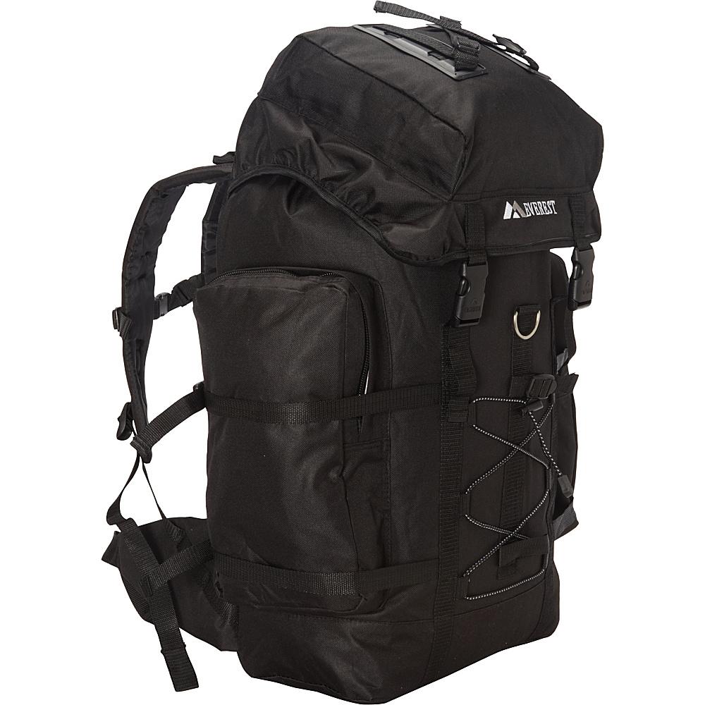 Everest Hiking Pack Black - Everest Backpacking Packs - Outdoor, Backpacking Packs