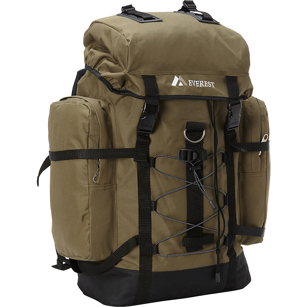 Everest Hiking Pack Olive/Black - Everest Backpacking Packs - Outdoor, Backpacking Packs
