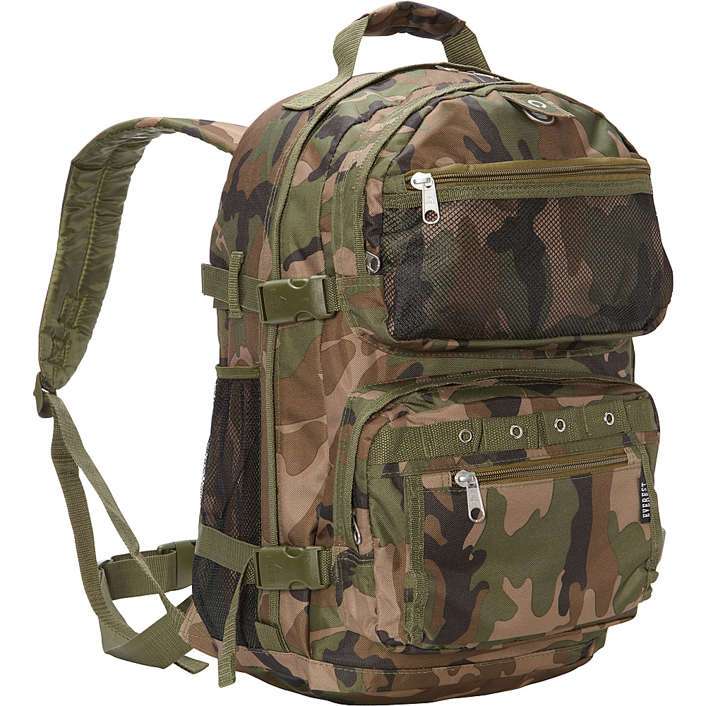 Everest Oversize Woodland Camo Backpack Woodland Camo Everest Everyday Backpacks