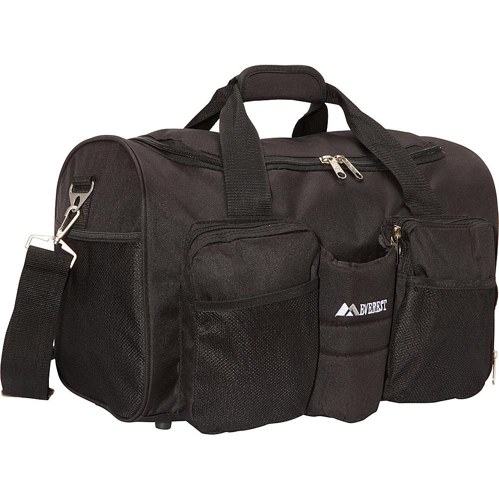 Everest Gym Bag with Wet Pocket Black - Everest Gym Duffels - Duffels, Gym Duffels