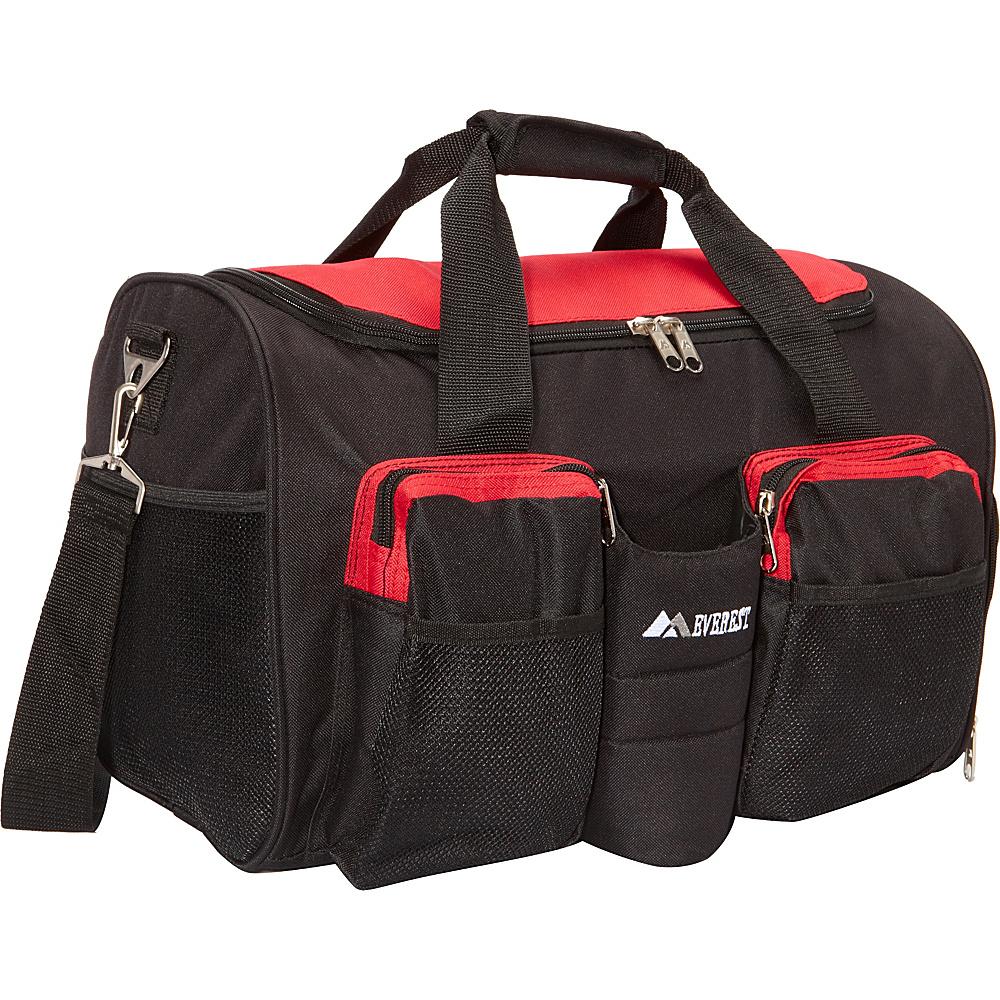 Everest Gym Bag with Wet Pocket Red/Black - Everest Gym Duffels - Duffels, Gym Duffels