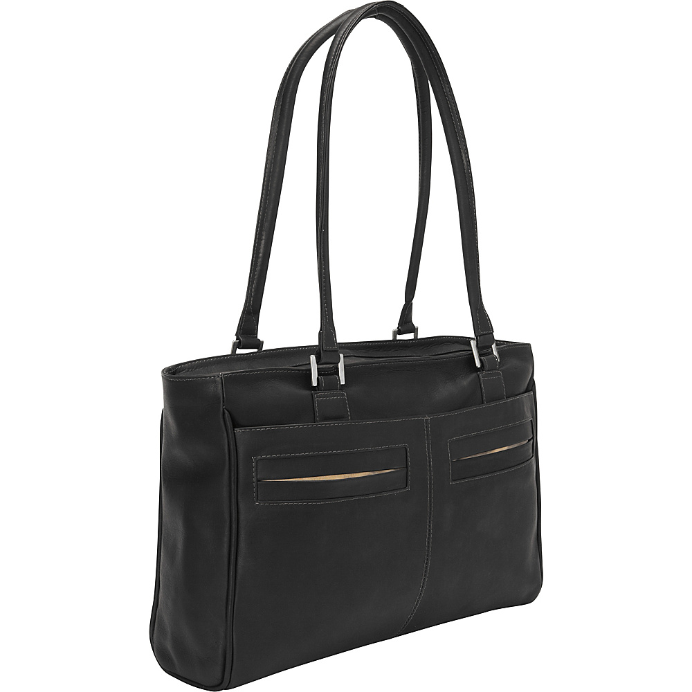 Piel Ladies Laptop Tote With Pockets Black - Piel Womens Business Bags - Work Bags & Briefcases, Women's Business Bags