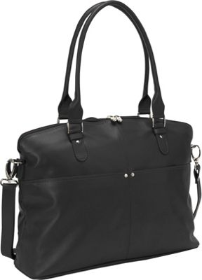Piel Slim Executive Laptop Tote Black - Piel Women's Business Bags