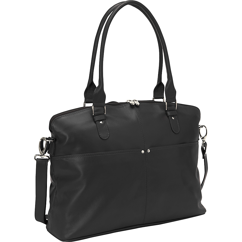 Piel Slim Executive Laptop Tote Black - Piel Womens Business Bags - Work Bags & Briefcases, Women's Business Bags