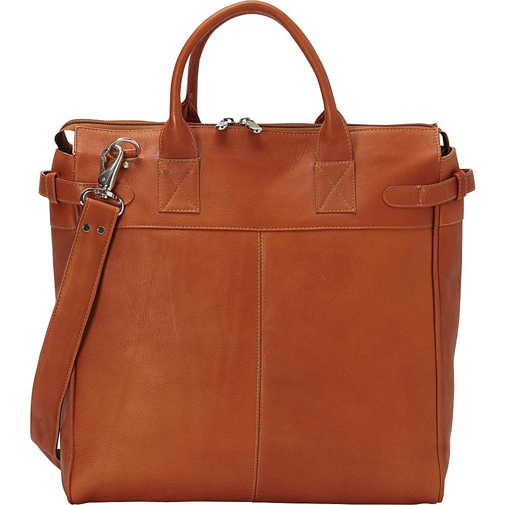 Piel Cross Body Travel Tote Saddle - Piel Leather Handbags - Handbags, Leather Handbags