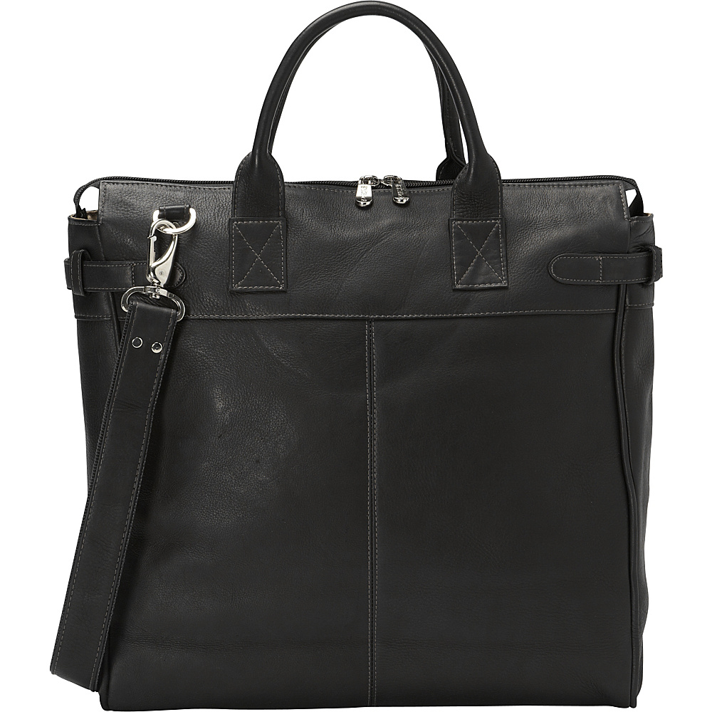 Piel Cross Body Travel Tote Black - Piel Leather Handbags - Handbags, Leather Handbags