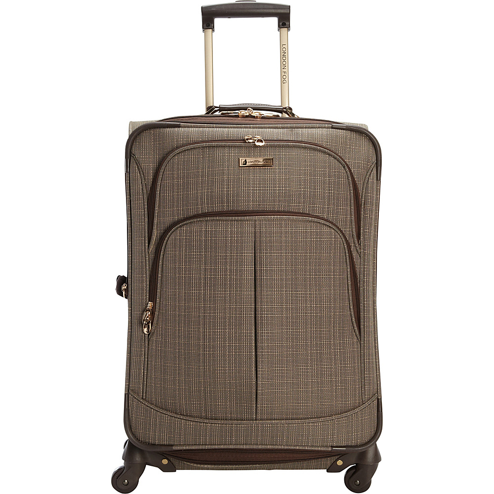 "London Fog Chatham 24"" Expandable Spinner Tan - London Fog Softside Checked"