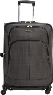 London Fog Chatham 24 inch Expandable Spinner Grey - London Fog Softside Checked
