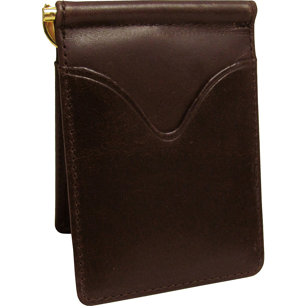 AmeriLeather Leather Money Clip Brown - AmeriLeather Mens Wallets - Work Bags & Briefcases, Men's Wallets