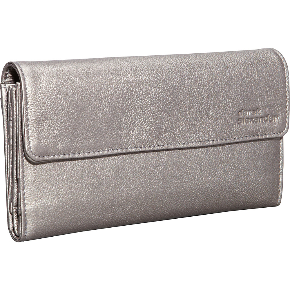 Derek Alexander Large Multi Card Clutch Silver - Derek Alexander Womens Wallets - Women's SLG, Women's Wallets