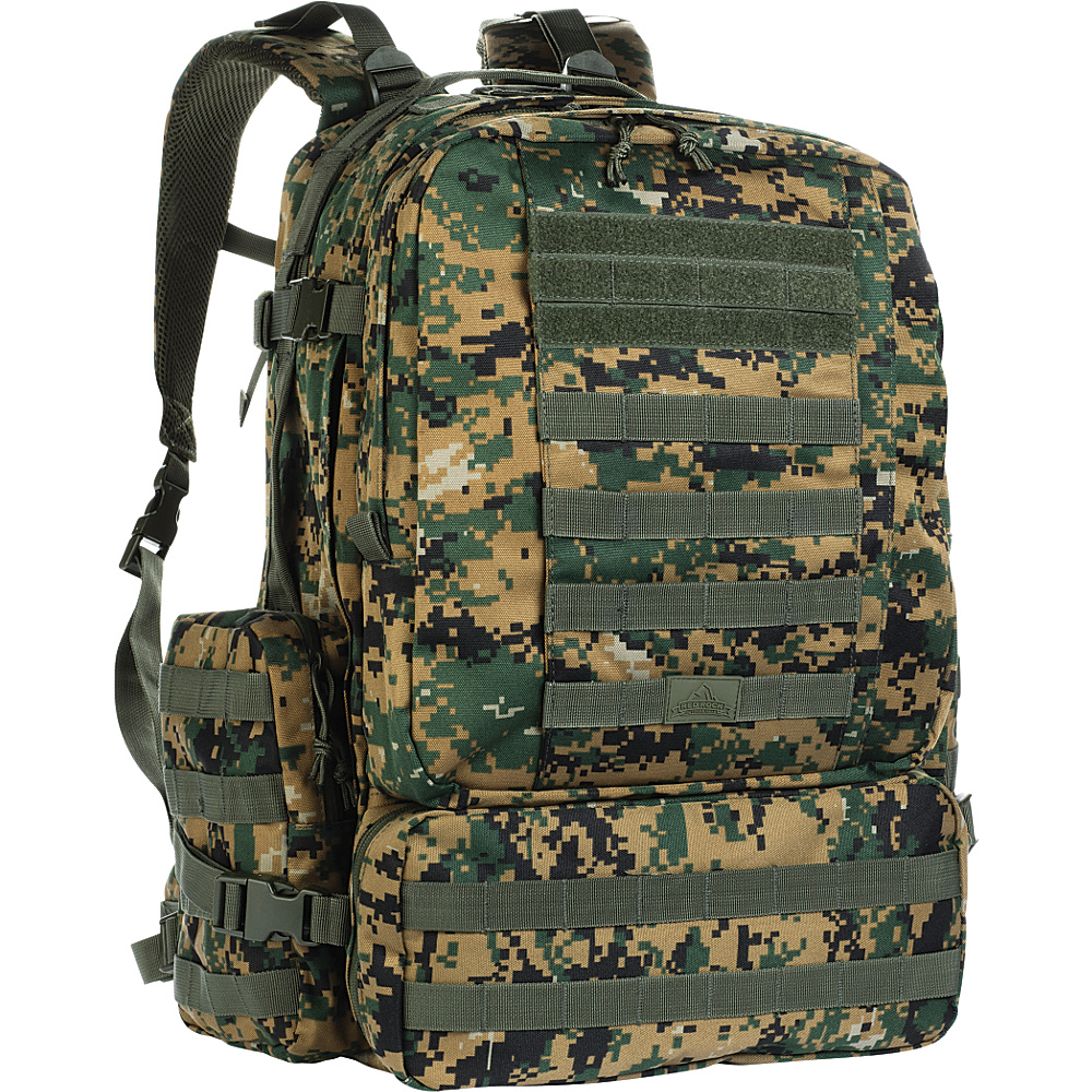 Red Rock Outdoor Gear Diplomat Pack Woodland Digital Camouflage Red Rock Outdoor Gear Day Hiking Backpacks