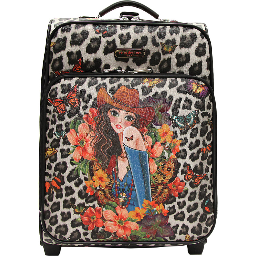 Nicole Lee Print Collection Rolling Expandable 20 Carry on Sandra Black Nicole Lee Softside Carry On