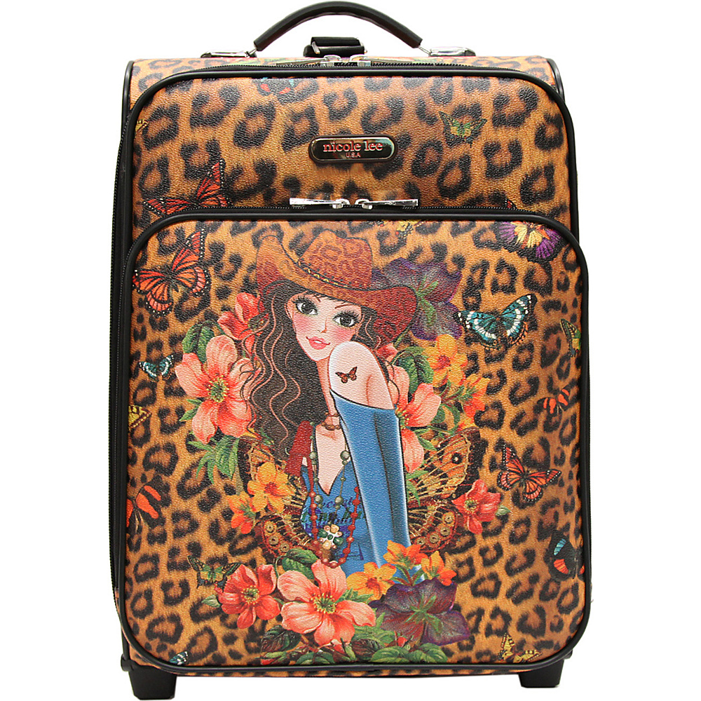 Nicole Lee Print Collection Rolling Expandable 20 Carry on Sandra Camel Nicole Lee Softside Carry On