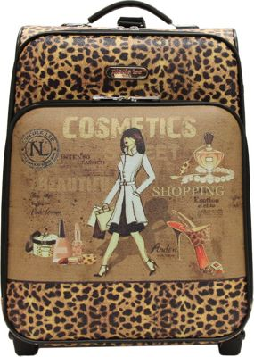 Nicole Lee Print Collection Rolling Expandable 20 inch Carry-on Cosmetics - Nicole Lee Softside Carry-On