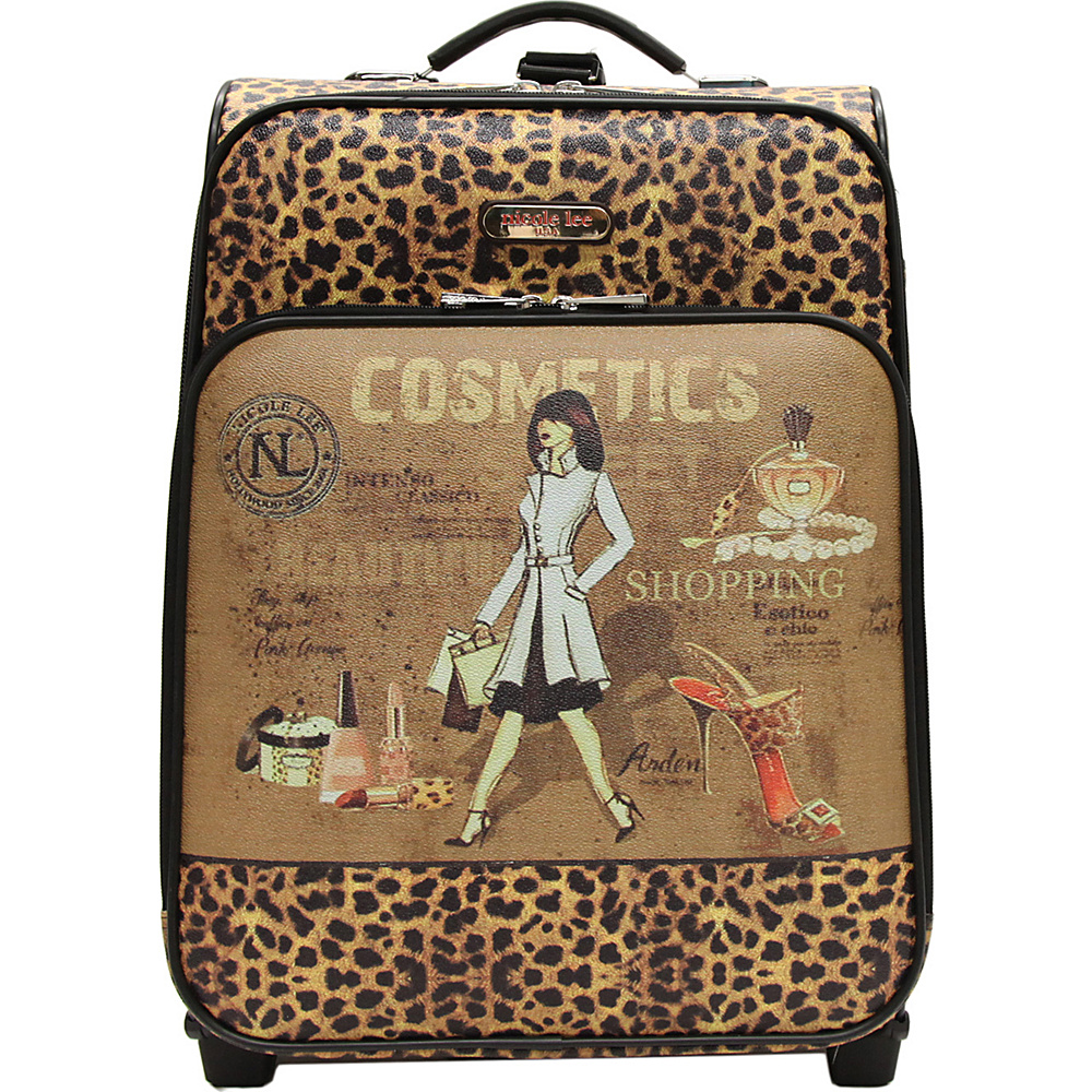 Nicole Lee Print Collection Rolling Expandable 20 Carry on Cosmetics Nicole Lee Softside Carry On