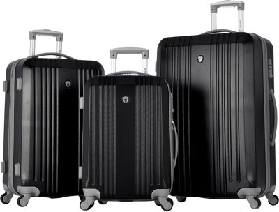 Olympia USA Corsair 3pc Hardcase Set Black - Olympia USA Luggage Sets