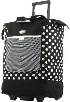 Olympia USA Rolling Shopper Tote - 20 inch Black - Olympia USA All-Purpose Totes