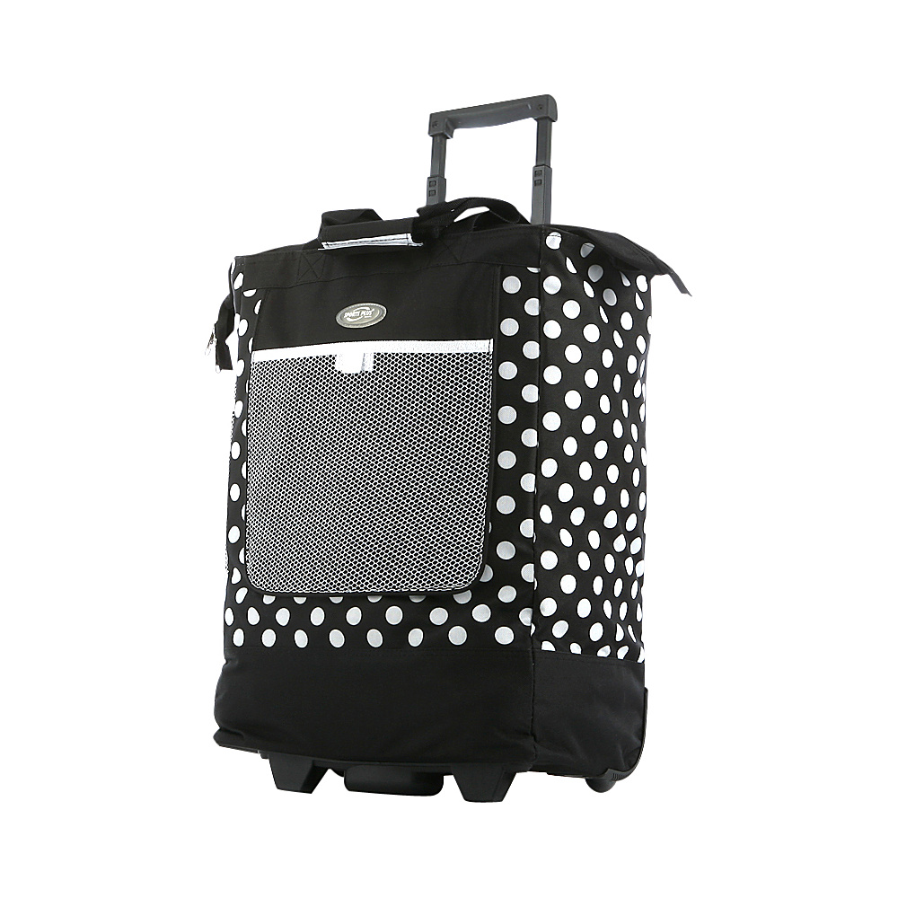 "Olympia USA Rolling Shopper Tote - 20"" Black - Olympia USA All-Purpose Totes"