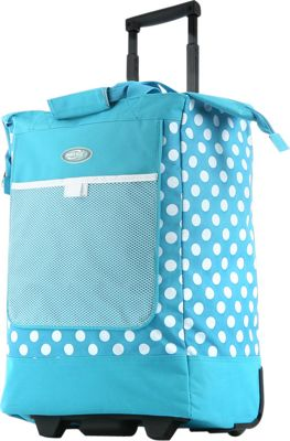 Olympia USA Rolling Shopper Tote - 20 inch Blue - Olympia USA All-Purpose Totes