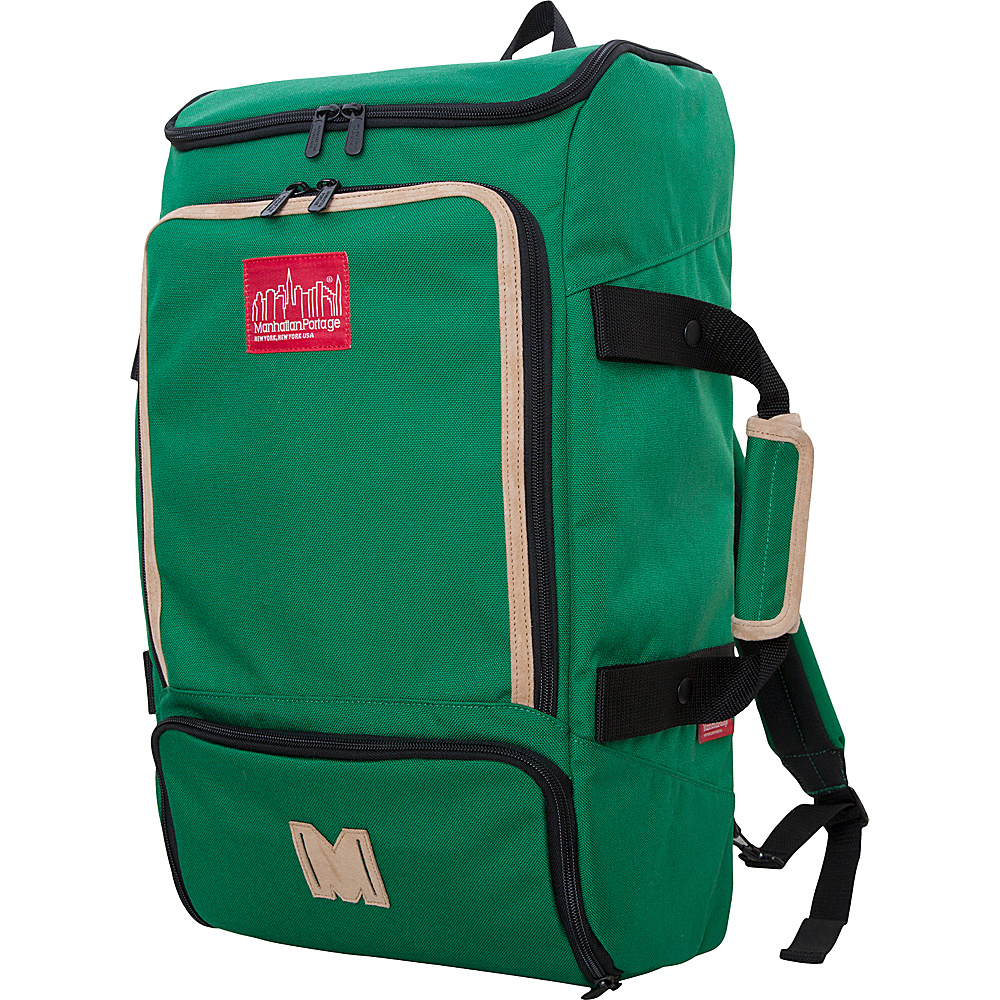 Manhattan Portage Ludlow Convertible Backpack Green - Manhattan Portage Travel Backpacks