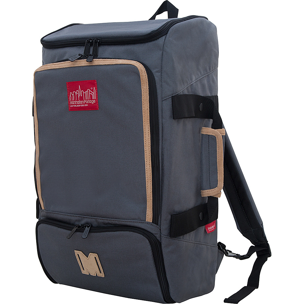 Manhattan Portage Ludlow Convertible Backpack Gray - Manhattan Portage Travel Backpacks