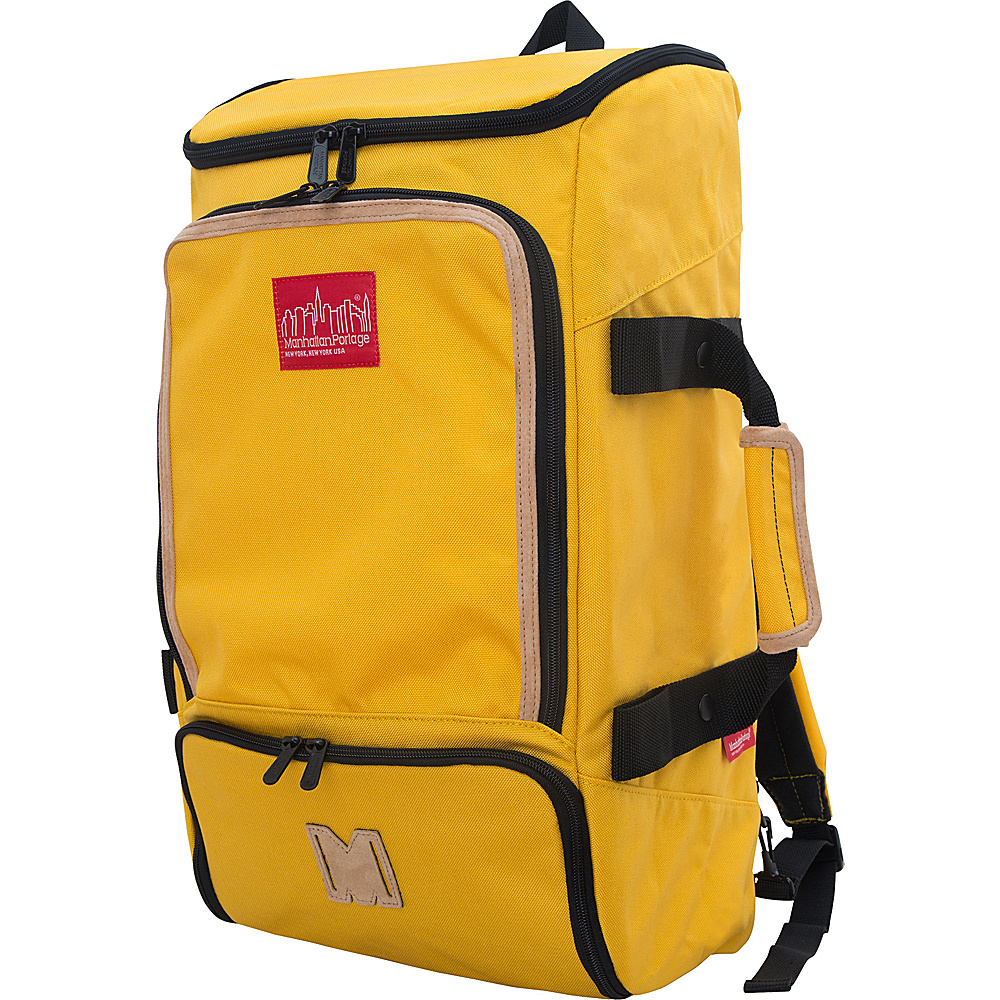 Manhattan Portage Ludlow Convertible Backpack Mustard - Manhattan Portage Travel Backpacks