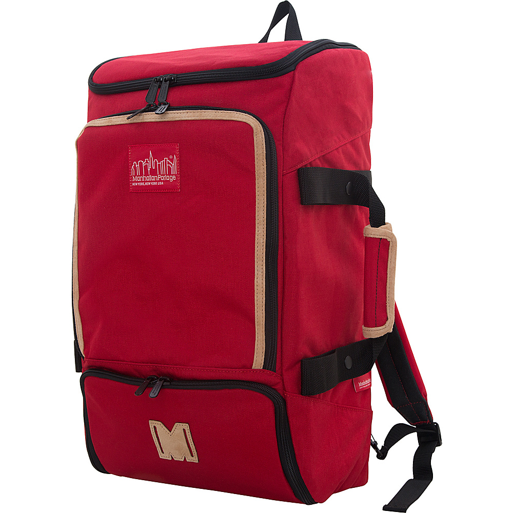 Manhattan Portage Ludlow Convertible Backpack Red - Manhattan Portage Travel Backpacks - Backpacks, Travel Backpacks