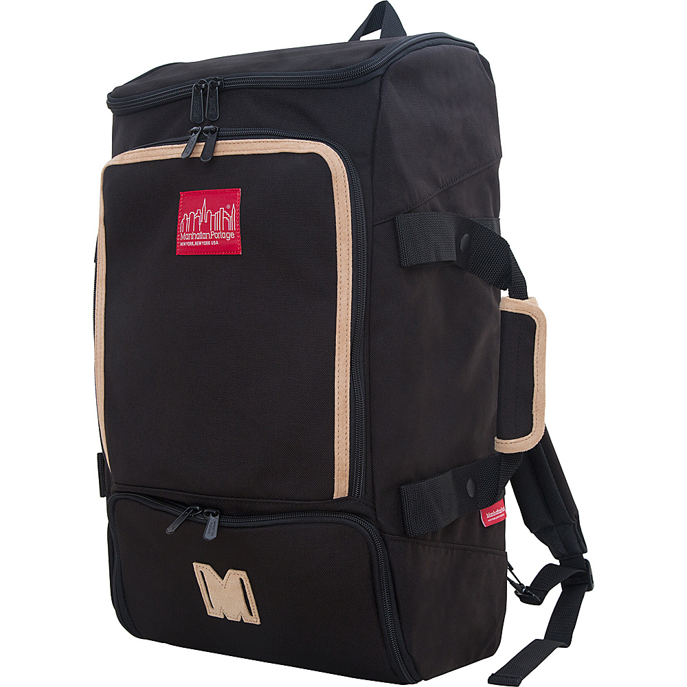 Manhattan Portage Ludlow Convertible Backpack Black - Manhattan Portage Travel Backpacks - Backpacks, Travel Backpacks
