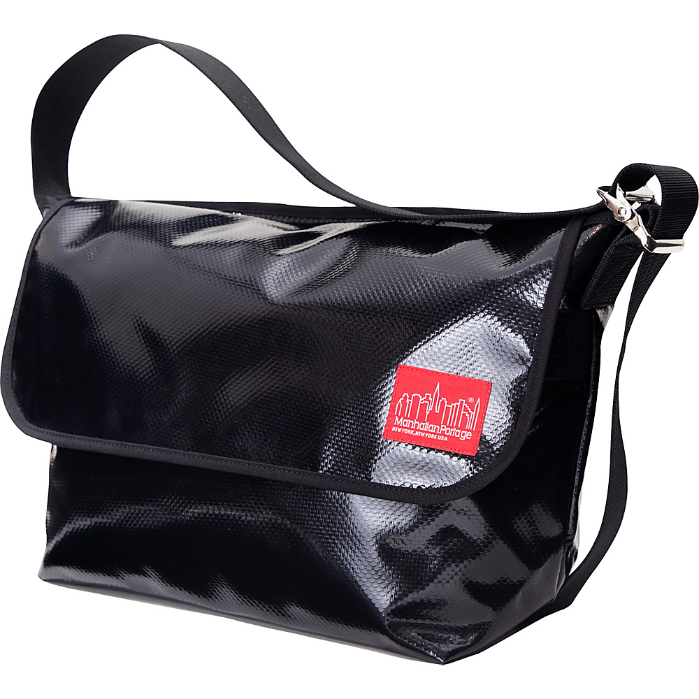 Manhattan Portage Vinyl Vintage Messenger Bag (LG) VER2 Black - Manhattan Portage Other Mens Bags - Work Bags & Briefcases, Other Men's Bags