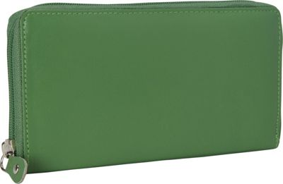 R & R Collections Zip Around Ladies Wallet Green - R & R Collections Women's Wallets