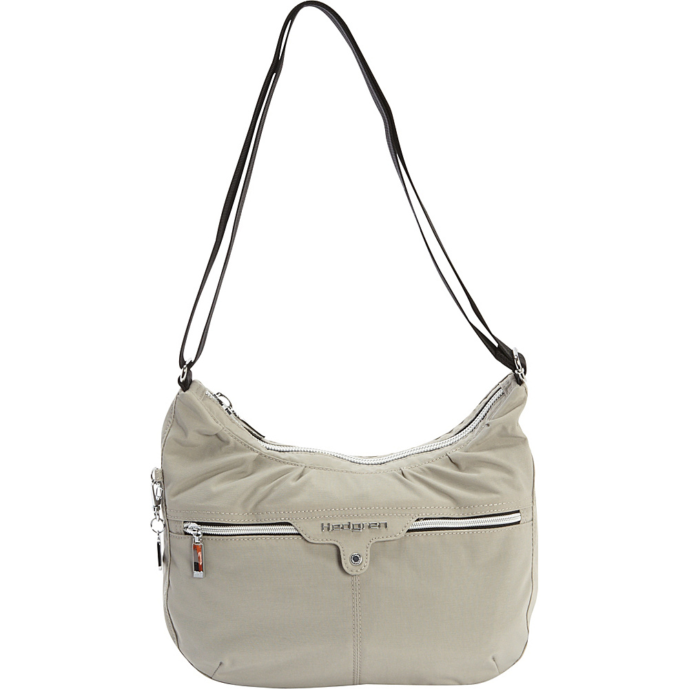 Hedgren Clapham Small Crossbody Bag Dove Grey Hedgren Fabric Handbags