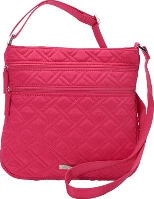 Vera Bradley Triple Zip Hipster - Solids Deep Pink - Vera Bradley Fabric Handbags