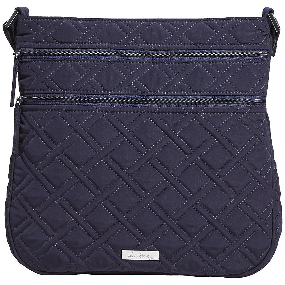 Vera Bradley Triple Zip Hipster Solids Classic Navy Vera Bradley Fabric Handbags
