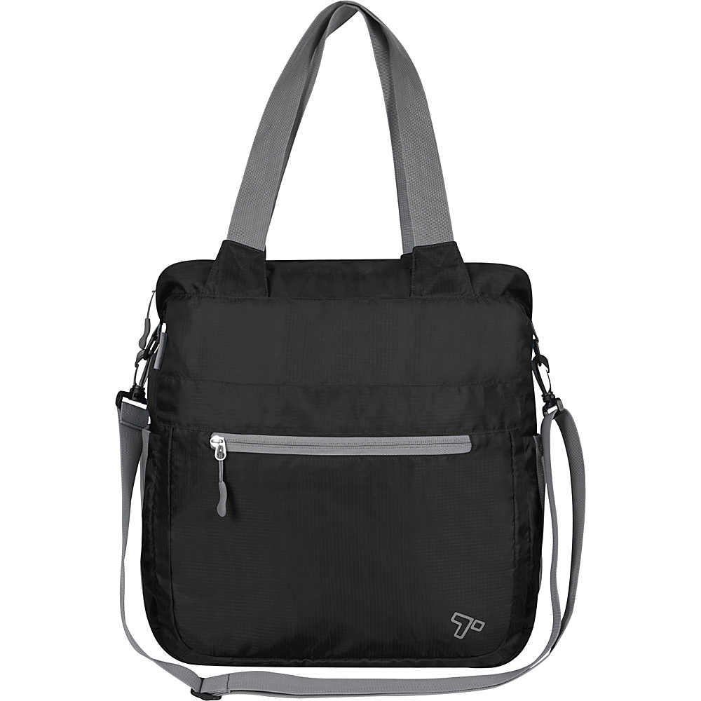 Travelon Packable Crossbody Tote Black - Travelon Lightweight packable expandable bags