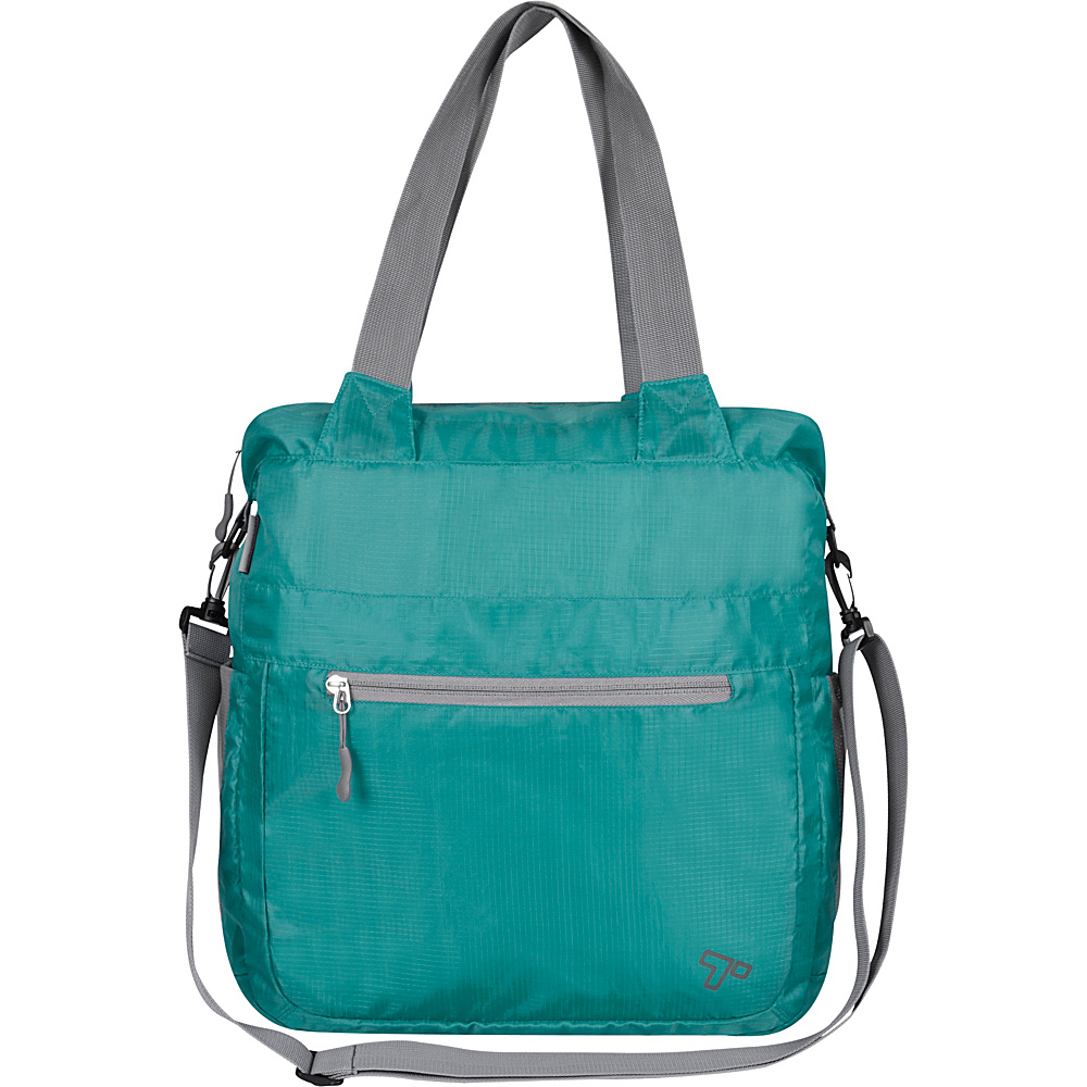 Travelon Packable Crossbody Tote Aqua - Travelon Lightweight packable expandable bags