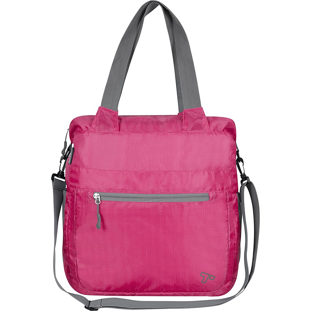 Travelon Packable Crossbody Tote Berry - Travelon Lightweight packable expandable bags