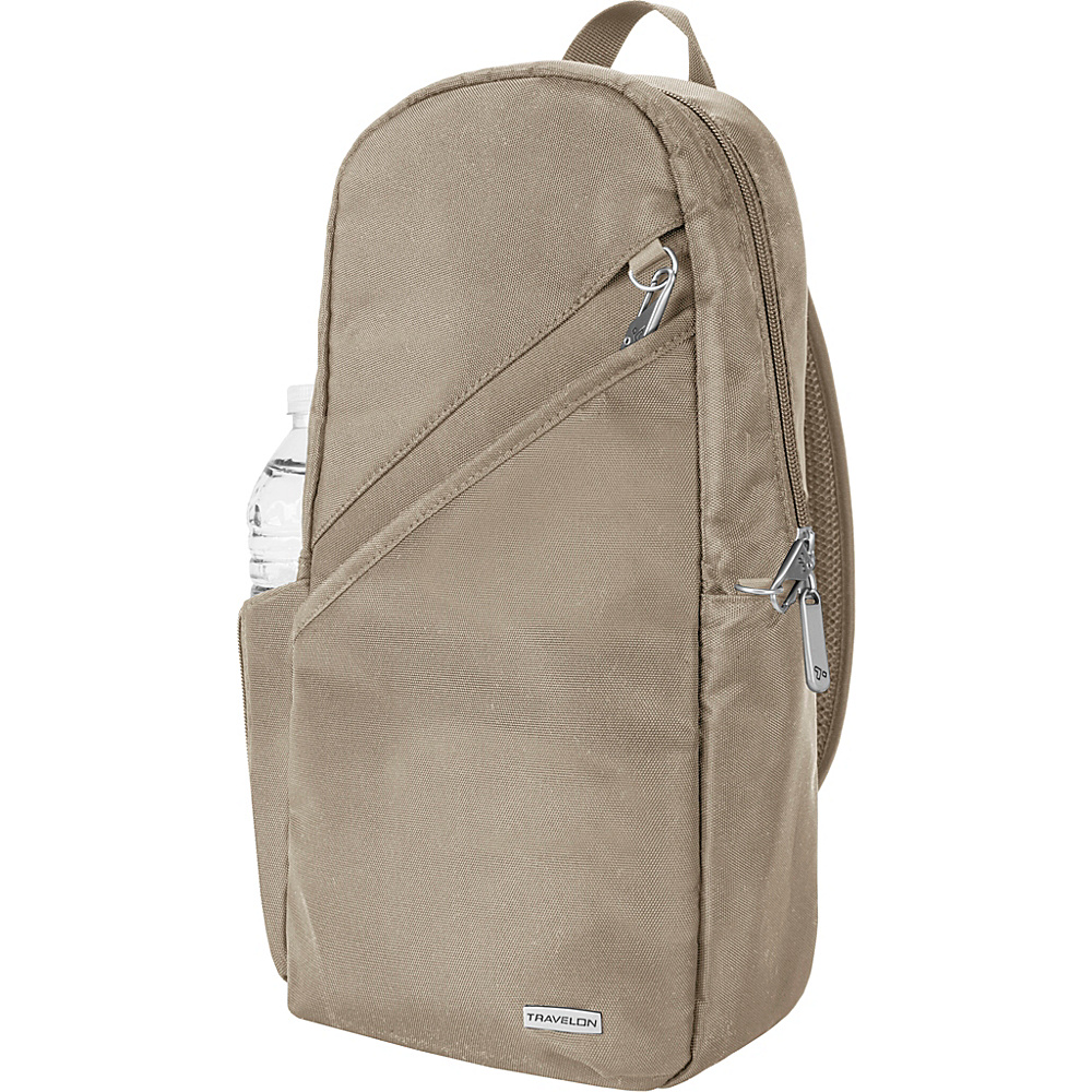"""Travelon Anti-Theft Classic 14"""" Sling Bag - Exclusive Colors Stone - Travelon Slings"""