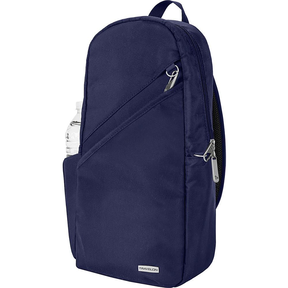 Travelon Anti-Theft Classic 14 Sling Bag - Exclusive Colors Lush Blue - Exclusive Color - Travelon Slings - Backpacks, Slings