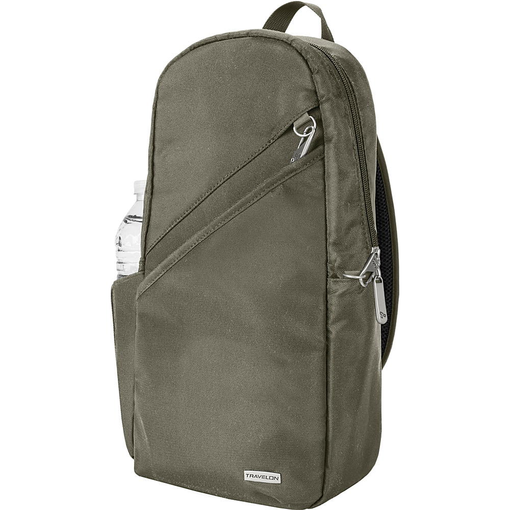 Travelon Anti-Theft Classic 14 Sling Bag - Exclusive Colors Charcoal - Exclusive Color - Travelon Slings - Backpacks, Slings