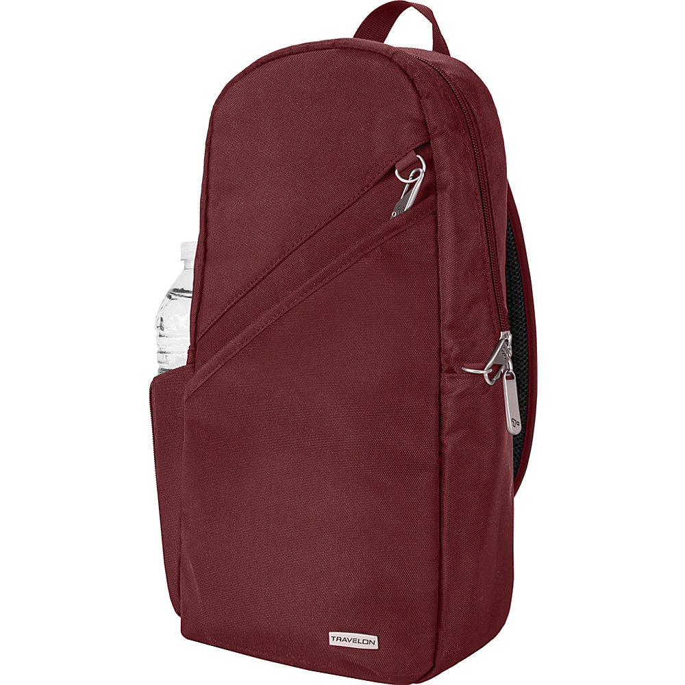 Travelon Anti-Theft Classic 14 Sling Bag - Exclusive Colors Burgundy - Exclusive Color - Travelon Slings - Backpacks, Slings