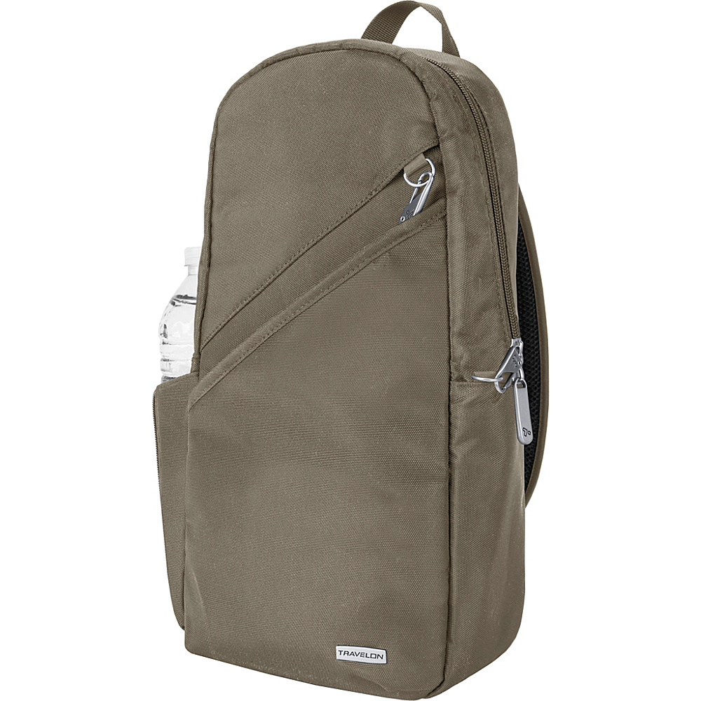 Travelon Anti-Theft Classic 14 Sling Bag - Exclusive Colors Nutmeg - Travelon Slings - Backpacks, Slings