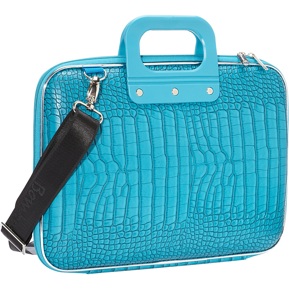 Bombata Croc 13 inch Laptop Bag Turquoise Bombata Non Wheeled Business Cases
