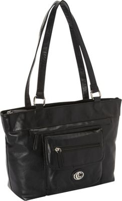 Aurielle-Carryland Super Touch Tote Black - Aurielle-Carryland Manmade Handbags