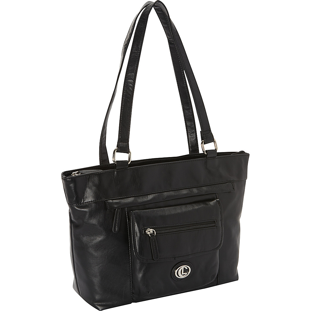 Aurielle-Carryland Super Touch Tote Black - Aurielle-Carryland Manmade Handbags