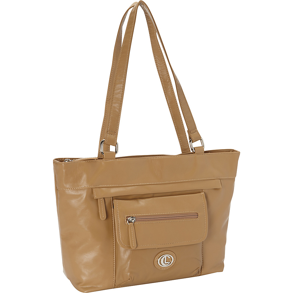 Aurielle Carryland Super Touch Tote Tan Aurielle Carryland Manmade Handbags