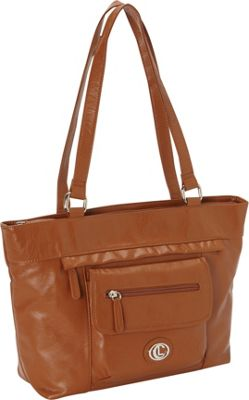 Aurielle-Carryland Super Touch Tote Tobacco - Aurielle-Carryland Manmade Handbags