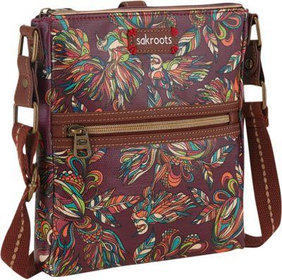 Sakroots Artist Circle Tablet Crossbody Mulberry Treehouse - Sakroots Fabric Handbags