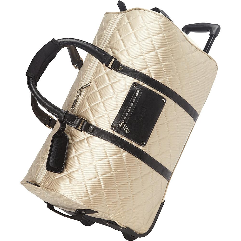 Bugatti Vail Duffle Bag on Wheels Beige - Bugatti Travel Duffels