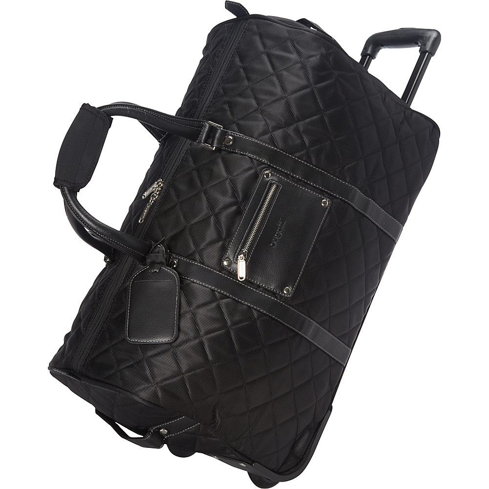 Bugatti Vail Duffle Bag on Wheels Black Bugatti Travel Duffels