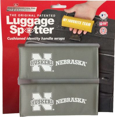 Luggage Spotters NCAA Nebraska Corn Huskers Luggage Spotter Gray - Luggage Spotters Luggage Accessories